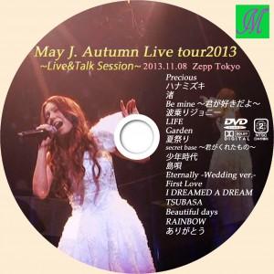 DVDラベル May J. Autumn Live tour2013