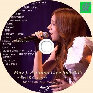 ブルーレイラベル May J. Autumn Live tour2013