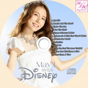 May J. sings Disney CDラベル