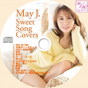CDラベル MayJ Sweet Song Covers