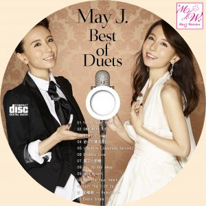 May J Best of Duets CDラベル