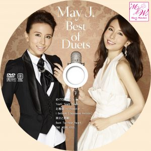 May J Best of Duets DVDラベル